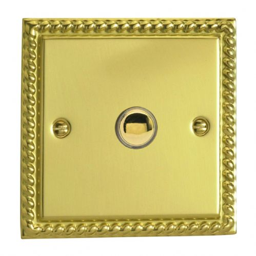 Varilight IJGS001 Georgian Polished Brass 1 Gang Touch Dimming Slave (use only with Master)